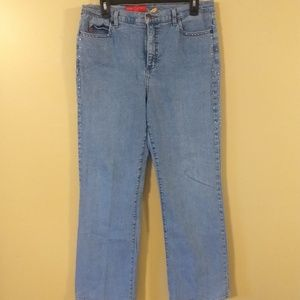 NYDJ tummy tuck rhinestone jeans sz 14